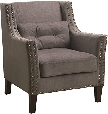 Accent Chair with Nailhead Trim Grey