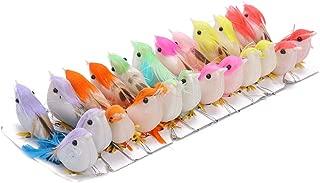 Decorazioni Natalizie Fai da Te per Matrimoni Confezione da 12 Mini Uccellini Artificiali con Clip JUHUIZHE