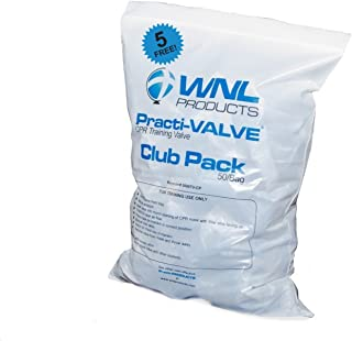 WNL Products CPR Practi-VALVE Club Pack 55 pieces- 50/Bag + 5 FREE