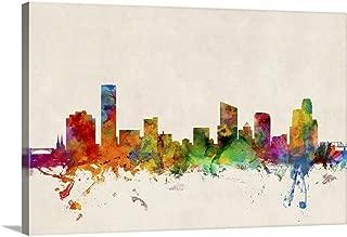 Grand Rapids Skyline Canvas Wall Art Print, 48