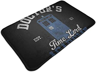 HUTTGIGH The Doctors Time Lord Academy Doctor Who - Alfombrilla antideslizante para puerta de entrada, alfombra de baño, a...
