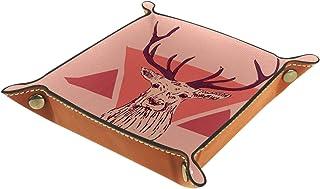 Vockgeng Bois d'animaux Boîte de Rangement Panier Organisateur de Bureau Plateau décoratif approprié pour Bureau à Domicil...