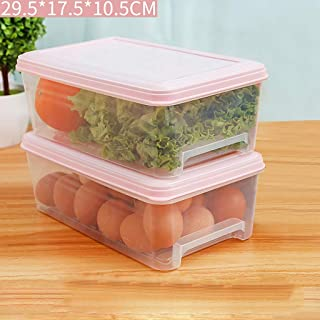 HHQSC Plastic crisper box Refrigerator storage box, drawer type rectangular storage box, food grade PP storage container, ...
