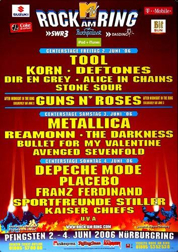Rock AM Ring & Park - Center Stage, Rock am Ring 2006 » Konzertplakat/Premium Poster   Live Konzert Veranstaltung   DIN A1 «