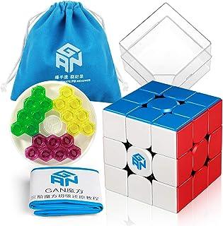 Coogam GAN 356 M Speed Cube 3x3 Stickerless Gans 356M Magnetic Puzzle Cube Gan356 M 3x3x3 (Stardard Version)