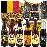 Pack box coffret 6 bières Belges - Cuvée des Trolls - Trappe Trappist Quadrupel - Isid'or - Kwak - Lindemans Faro - Pater 6
