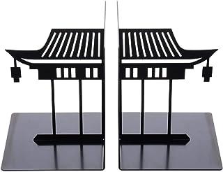 ARTIBETTER 1 par Kinesiska Bokstöd Antik Asiatisk Stil Byggnadsmönster Bokstöd Skrivbordsdekorativ Bokhylla Brevpapper För...