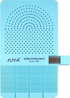 JUYA Quilling Knitting Board with 2 Functions Have Sticks Storage (Blue)
