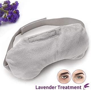 Unimi Heated Eye Mask for Dry Eyes, Microwaveble Moist Eye Compress for Puffy Eyes, Pink Eyes, Headache, Migraine Relief, Sinus Pain, Bruder Eye Compress Moist Heat Eye Mask Washable & Reusable