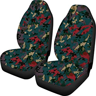 Adults Camo Car Seat Covers Interior Protection for Auto Bucket Seat