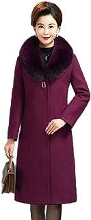 Howely Women's A-line Mid Long Outwear Pea Coats Woolen Fashion Tops Jacket