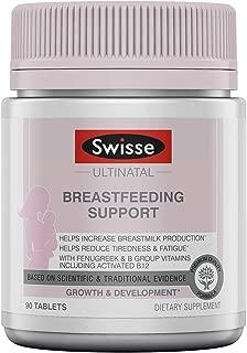 Swisse Premium Ultinatal Breastfeeding Support | Lactation Supplement Helps Increase Breastmilk Production & Energy Levels | Fenugreek, Vitamin B6, Vitamin B12, More | 90 Tablets per Bottle