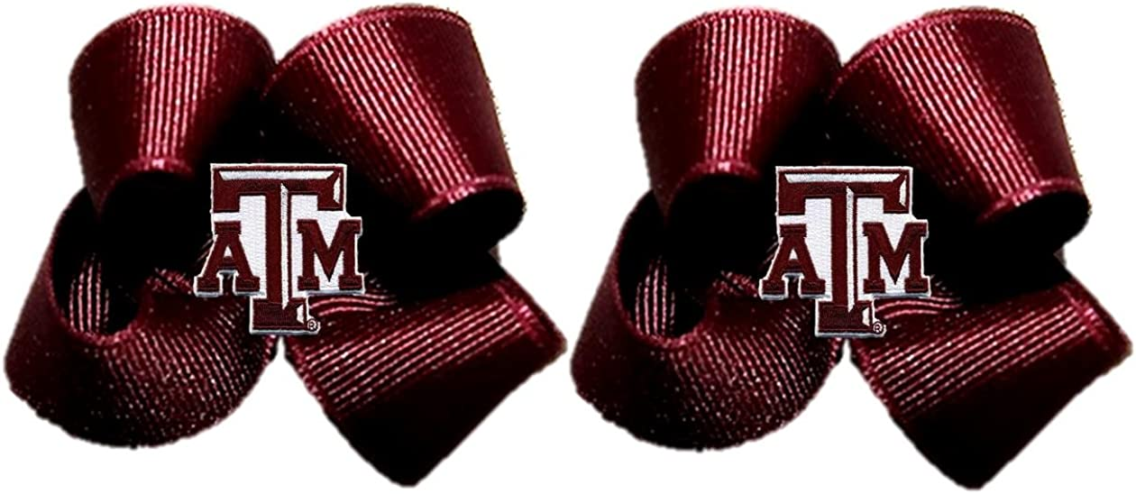 Pair Divine Creations NCAA Toddler Bow