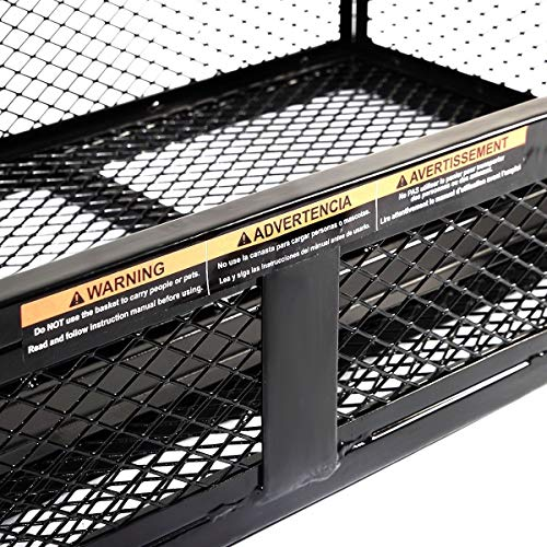 Universal Front Atv Hd Steel Cargo Basket Rack Luggage Carrier Wire Shelf Cabinet Tier Out Pull Under Metal Wall Sliding Black UTV Universal Rear Drop Basket Rack Steel Cargo Hunting BESTChoiceForYou