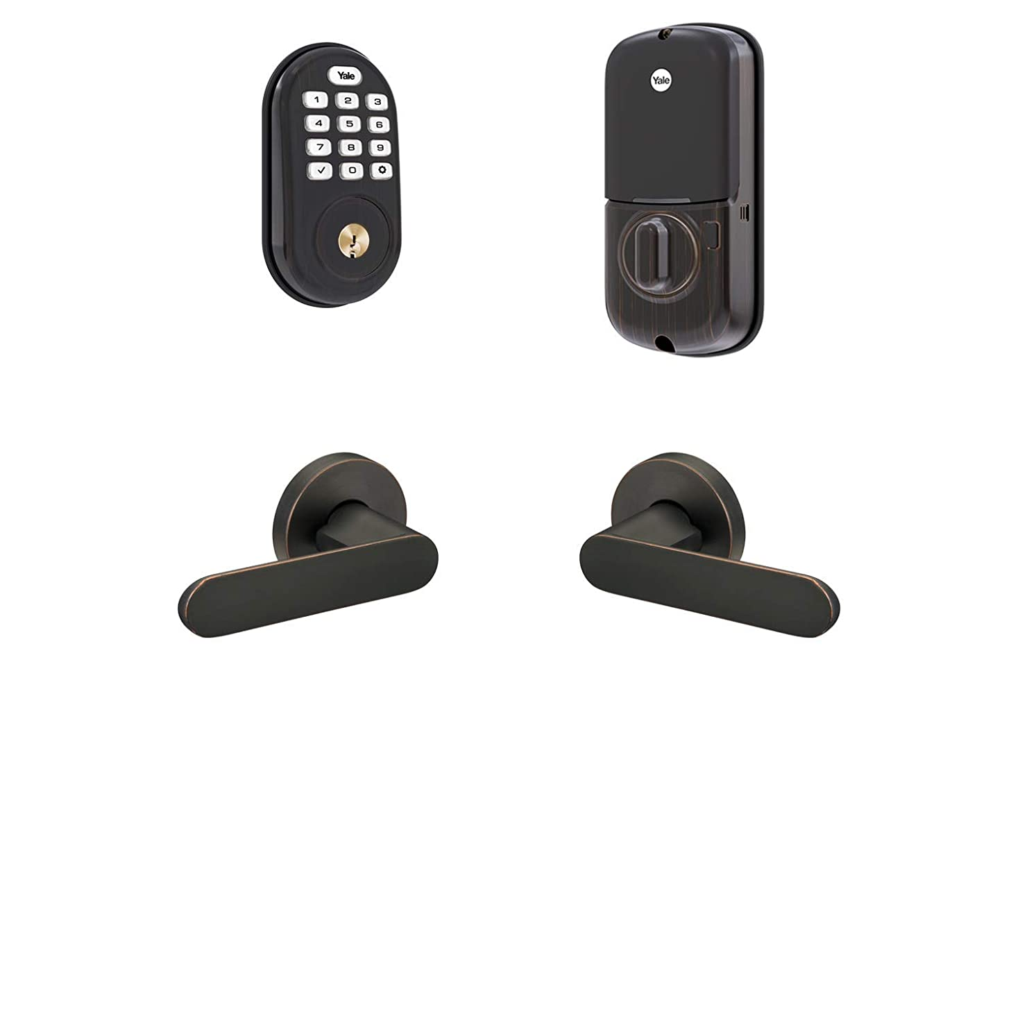 Yale Security B-YRD216-NR-KC-0BP Yale Assure Lock Kincaid Keypad Deadbolt with Matching Lever Smart Module), Oil-Rubbed Bronze