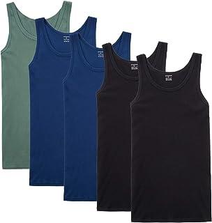 comprar comparacion YOUCHAN Camiseta de Tirantes para Hombre Pack de 5 de Algodón 100% más Colores