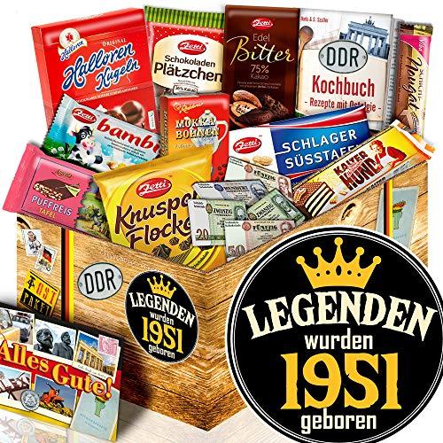 Legenden 1951 - Geburtstagsgeschenke Freund - Schokoladen Ossi Set L