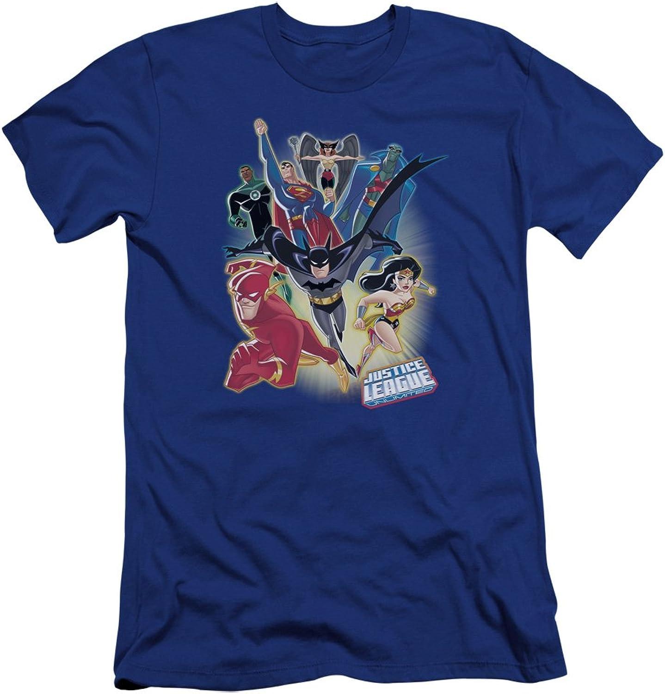 Justice League, The JLA  Mens Unlimited Premium Slim Fit TShirt