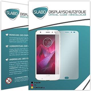 Slabo 4 x displayskyddsfolie för Motorola Moto Z2 Force displayfolie skyddsfolie tillbehör Crystal Clear KLAR