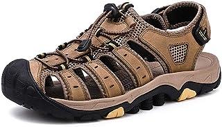 Shoes Men Summer Hiking Sandals Outdoor Sandals Summer Breathable Beach Shoes (Color : Khaki, Size : 42)