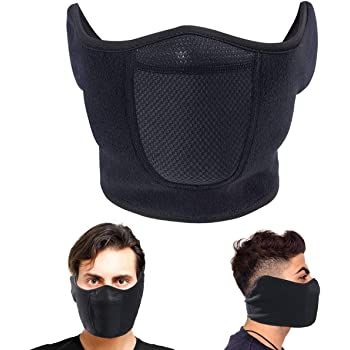 Omenex Balaclava Half Face Mask Windproof Men Women for Skiing Snowboarding Motorcycling Winter Outdoor Sports Highly Breathable (Half-face)