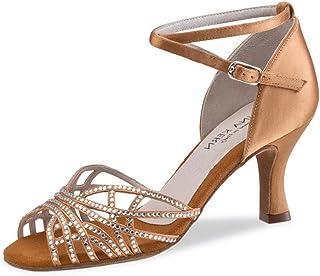 Anna Kern - Mujeres Zapatos de Baile 700-60 - Satén Bronce - 6 cm