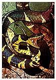 Pintura por números para Kits de Lona enrollados para Adultos para Artistas Principiantes-Acuarela acrílica Pintura-Pintura al óleo Artes artesanía decoración Regalo- Color Serpiente