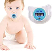 NiceMax Premium Digital LED Baby Infant Child Thermometer Pacifier Quick Accurate Read Out Display Temperature Monitor Measurement Fever Device