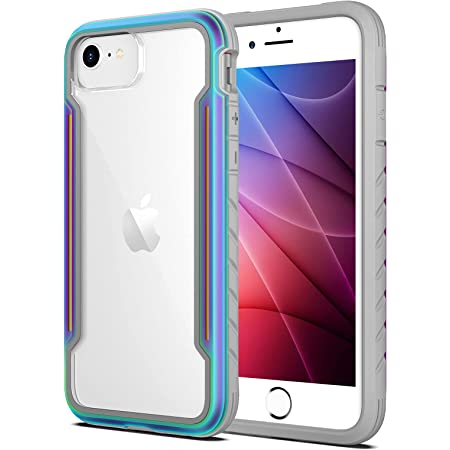 Aodh Compatible with iPhone SE 2020/iPhone 8/7/6S/6, Clear Cases for SE 2nd Generation with Edge Shockproof Protection, Military Grade Drop Tested TPU Protective Case for iPhone 4.7 Inch (Iridescent)