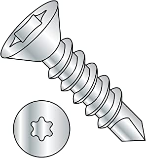 Steel Self-Drilling Screw Zinc Plated Finish 3 Drill Point 12-14 Thread Size Pack of 25 82 Degree Flat Head Square Drive 2-1//2 Length