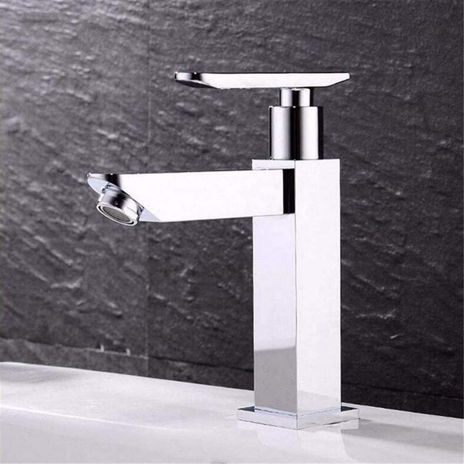 Luxury Plated Mixer Faucet Tap Bathroom Faucet Brass Modern Basin Sink Faucet Chrome-Coated Single Handle Water Faucet