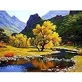 Pintura al óleo Imagen Paisaje Diy Prensa Digital Lienzo Pared Boda Sala de estar Decoración 40X50cm
