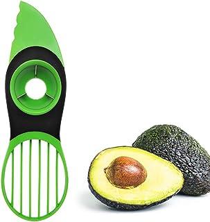Avocado Cutter Avocado Slicer and Pitter 3 in 1 Avocado Peeler Tool for Kitchen Fruit Green