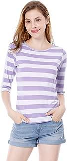 purple and white striped shirt womens