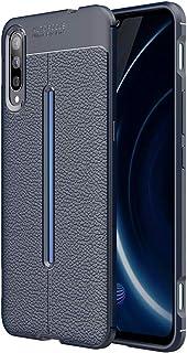 NLE携帯電話ケース Vivo iQOO用Litchi Texture TPUショックプルーフケース Vivoに対応 (色 : Navy Blue)