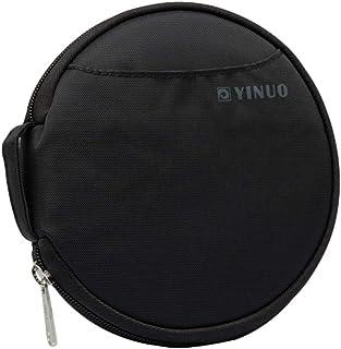 Insun Fundas y Bolsas para CDs y DVDs Nylon Fundas CD Protectora Almacenamiento CD DVD Porta CD Estuche CD Negro para 32 D...