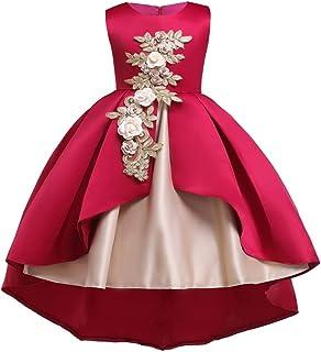 32b69b775487 Flower Little Big Girls Lace Bridesmaid Dress Kids Wedding Party Birthday  Pageant Toddler Princess Formal Dresses