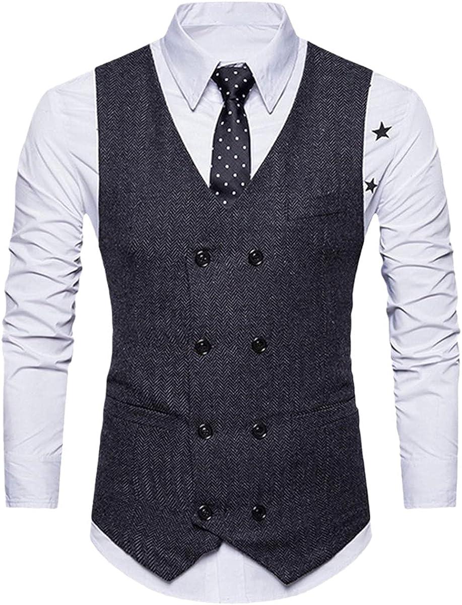 CACLSL 3-Piece Business Suit Jacket + Vest + Pants Suit Men's Autumn Fashion Solid Color Slim Wedding Suit