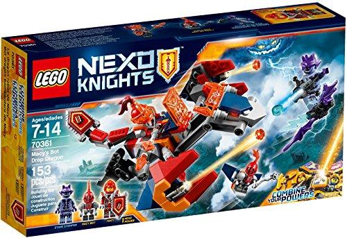 LEGO- Nexo Knights Dragone Sgancia Robot di Macy Costruzioni Piccole Gioco, Multicolore, 70361