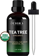 Tea Tree Essential Oil by Fiora Naturals- 100% Pure Organic Tea Tree Oil, Antifungal and Antiseptic for Face, Hair, Skin, Acne, Scalp, Foot and Toenail Fungus. Pure Melaleuca Alternifolia, 1 oz /30ml