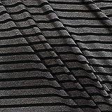 Unbekannt Stoff Baumwolle Jersey Meterware schwarz
