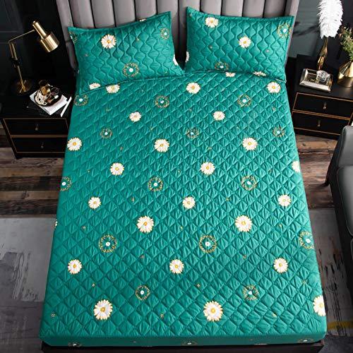 Xiaomizi Sábana bajera impermeable con funda de colchón de algodón y algodón, algodón puro, almohadilla de pañales de una sola pieza se puede lavar