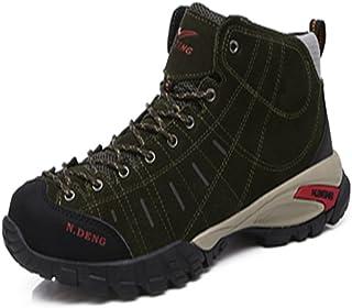 [HONGJING] トレッキングシューズ 登山靴 メンズ ハイキングシューズ 防水 防滑 ウォーキングシューズ アウトドア トラベル ハイカット キャンプ シューズ 暖かい靴 大きいサイズ クッション性/通気性