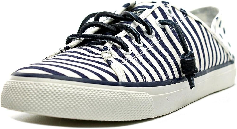 Sperry Top-Sider Women's Seacoast Isle Painted Stripe Sneaker,Dark bluee Canvas,8.5 M US
