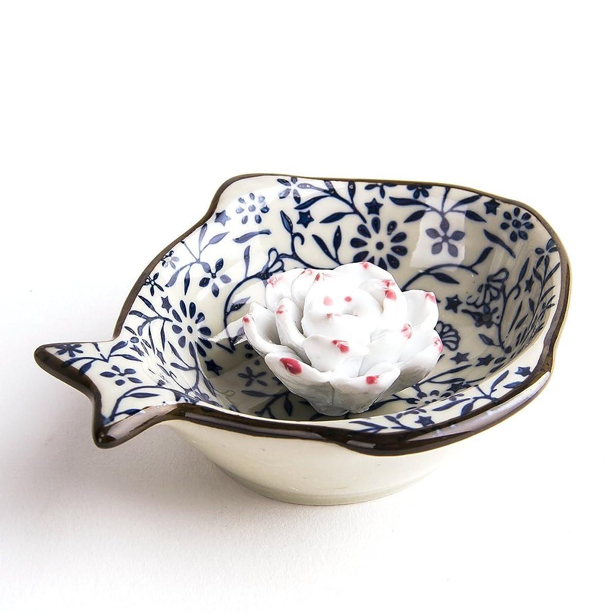 弱いインポートキャビンお香立て お香たて 香の器 お香を焚いて 香皿,陶磁器、ブルー