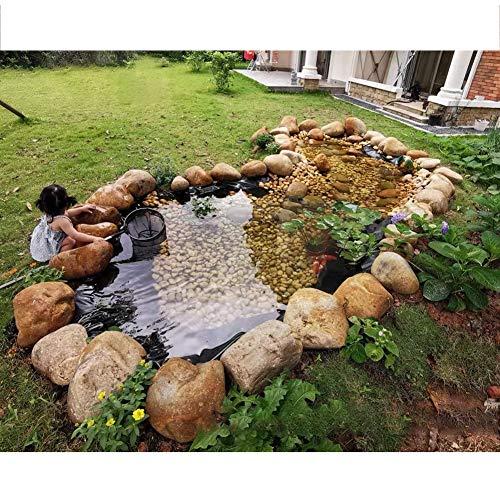 Gzhenh Revestimiento para Estanque De Peces,Lonas De Natación Familiares Resistencia Al Desgarro Multifunción A Prueba De Humedad Jardín Estanque De Peces Cascada Fuente (Color : Black, Size :