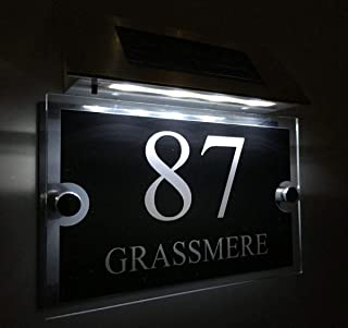 Led Solar House Numbers