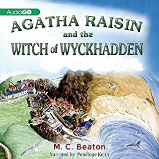 Agatha Raisin and the Witches of Wyckhadden audiobook cover art