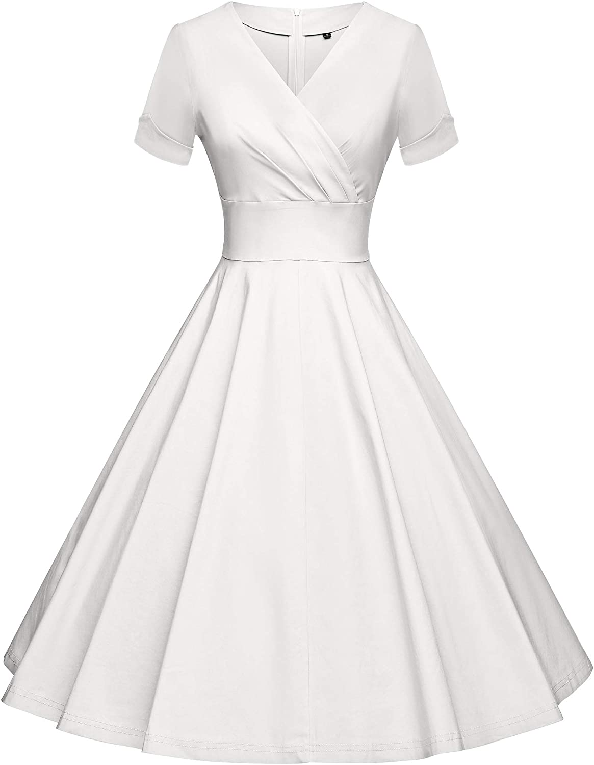 GownTown 1950s Style 3/4 Sleeves Swing Cocktail Dresses with Pocket