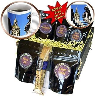3dRose Danita Delimont - Towers - Bell tower of the Church of Santiago el Mayor, Puente La Reina, Spain. - Coffee Gift Bas...